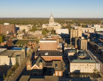 A picture of Springfield, the capital city of Illinois