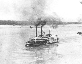 A picture of a steamboat from the 1800s