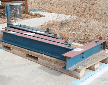 A picture of a few steel i-beams