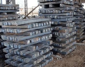 A picture of pallet of steel ignots