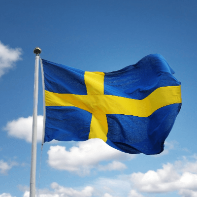 A Picture of the Sweden Flag