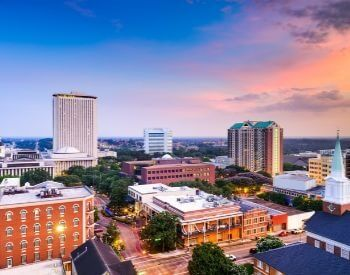 A picture of Tallahassee, FL the state capital of Florida