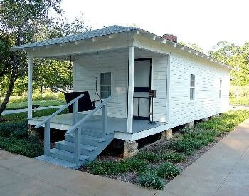 A picture of the birthplace of Elvis Presley in Tupleo, Mississippi