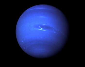 The first photo of Neptune ever taken by Voyager 2 in August 1989.
