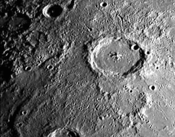 One of the first pictures of the planet Mercury from Mariner 10 in 1974.