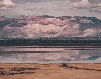 A picture of the Great Salt Lake in Antelope Island State Park