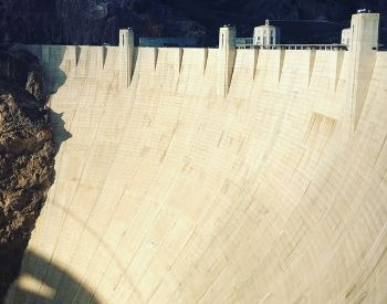 A picture of the side wall of the Hoover Dam