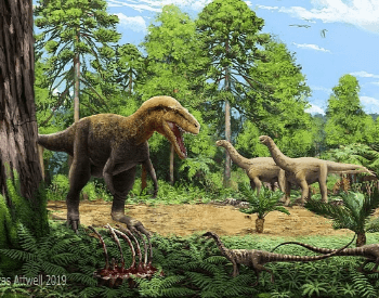 An artist's depiction of the Jurassic Period