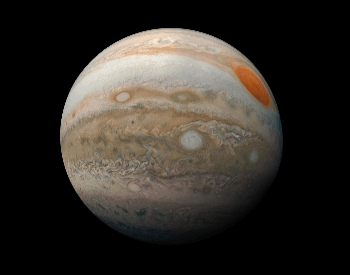 A beauitful photo of Jupiter's Southern Hemisphere by NASA's Juno spacecraft.
