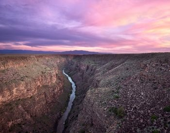 A picture of the Rio Grande River in a canyon