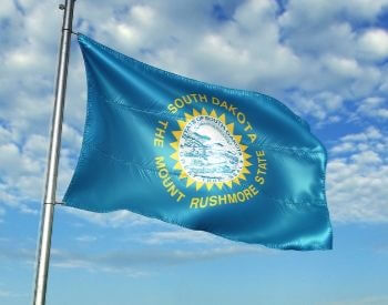 A picture of the flag of the U.S. state of South Dakota