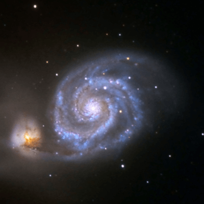 A Picture of the Whirlpool Galaxy