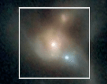 A photo of three black holes that will one day collide