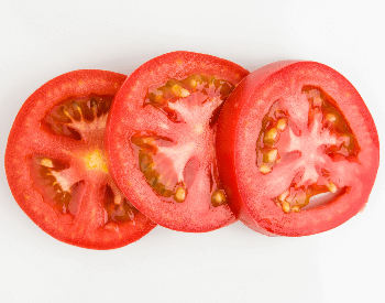 A picture of tomato slices