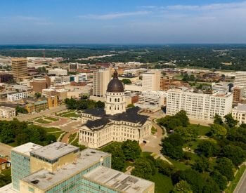A picture of Topeka, the capital city of Kansas, USA