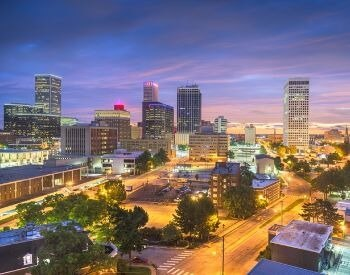 A picture of Tulsa, the second most populated city in Oaklahoma