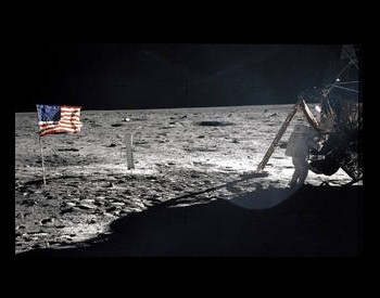 A picture of Neil Armstrong during the United States Apollo 11 Mission. The first human on the moon