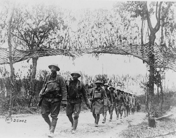 A picture of United States troops at the Battle of Verdun