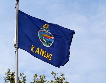 A picture of the U.S. state flag of Kansas, USA
