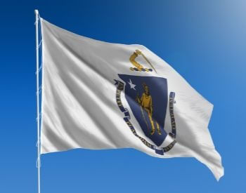 A picture of the U.S. state flag of Massachusetts, USA