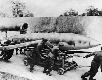A picture of a V-1 Rocket (flying bomb)