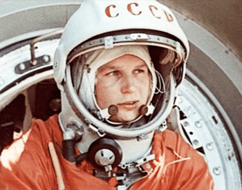 A photo of Valentina Tereshkova, the first woman in space