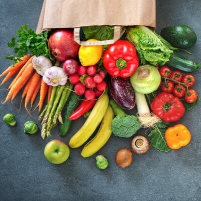 A Picture of Bag of Vegetables