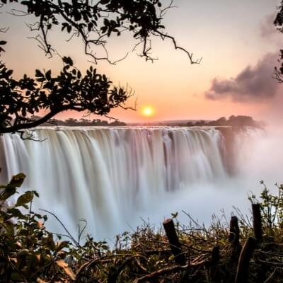 A Picture of the Victoria Falls Waterfall