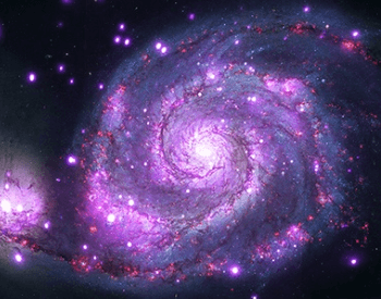 An x-ray photo of the Whirlpool Galaxy