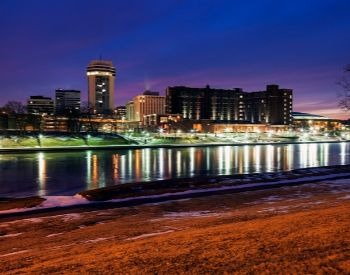 A picture of Wichita, the most populated city in Kansas, USA