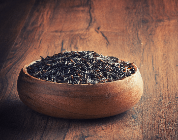 A picture of black rice