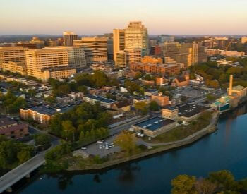 A picture of the city of Wilmington, Delaware